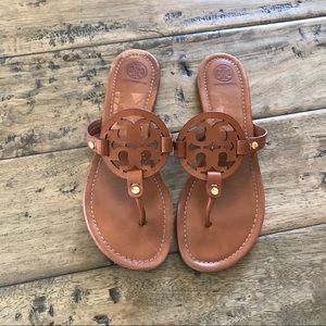Tory Burch Miller sandals brown leather 10